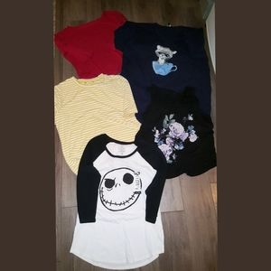 5 women tops all fit M and Large